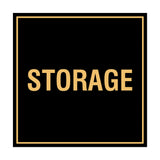 Black / Gold Signs ByLITA Square Storage Sign