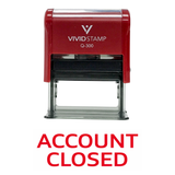 ACCOUNT CLOSED Self Inking Rubber Stamp