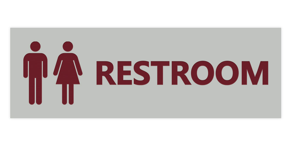Signs ByLITA Basic Unisex Restroom Sign