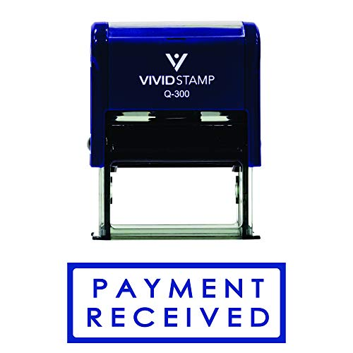 Payment Received W/Border Self Inking Rubber Stamp