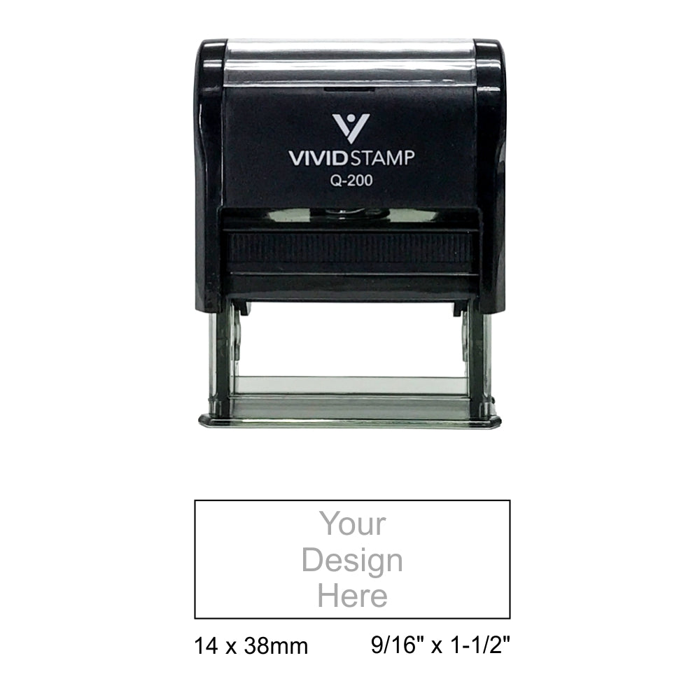 Vivid Stamp Q-200 Self-Inking Stamp - Black Body