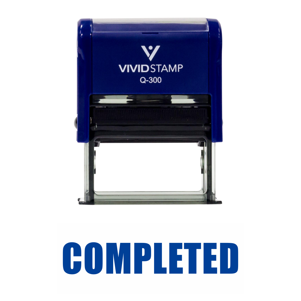 Basic COMPLETED Self Inking Rubber Stamp
