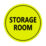 Yellow / Black Signs ByLITA Circle Storage Room Sign