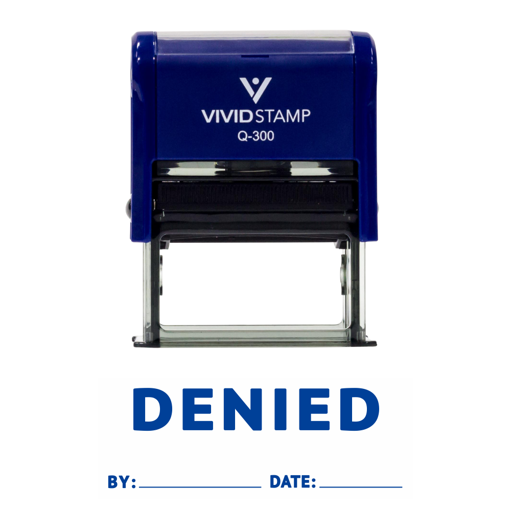 DENIED By Date Self Inking Rubber Stamp