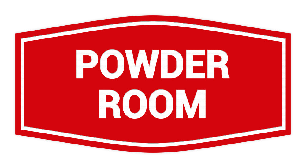 Signs ByLITA Fancy Powder Room Sign with Adhesive Tape, Mounts On Any Surface, Weather Resistant, Indoor/Outdoor Use