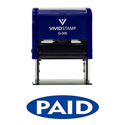 Paid Oval Reversed Self Inking Rubber Stamp