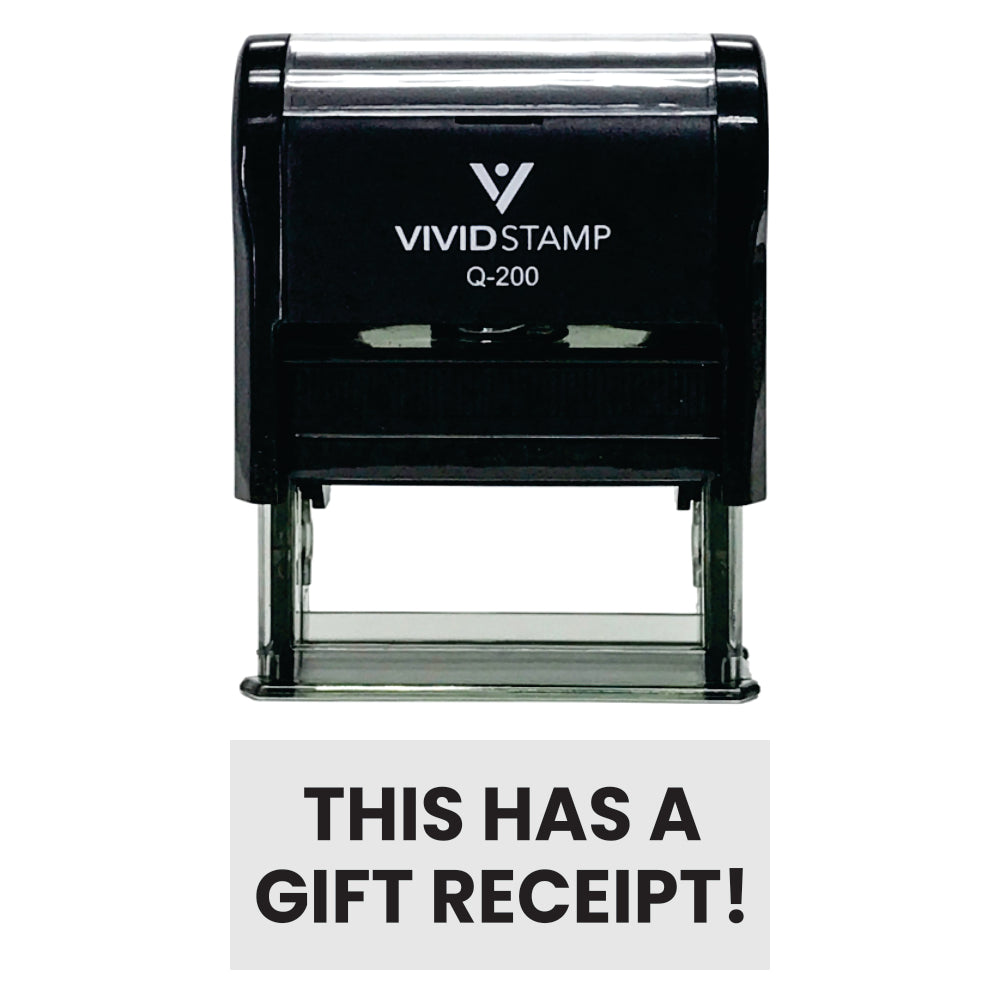 THIS HAS A GIFT RECEIPT! Self-Inking Office Rubber Stamp