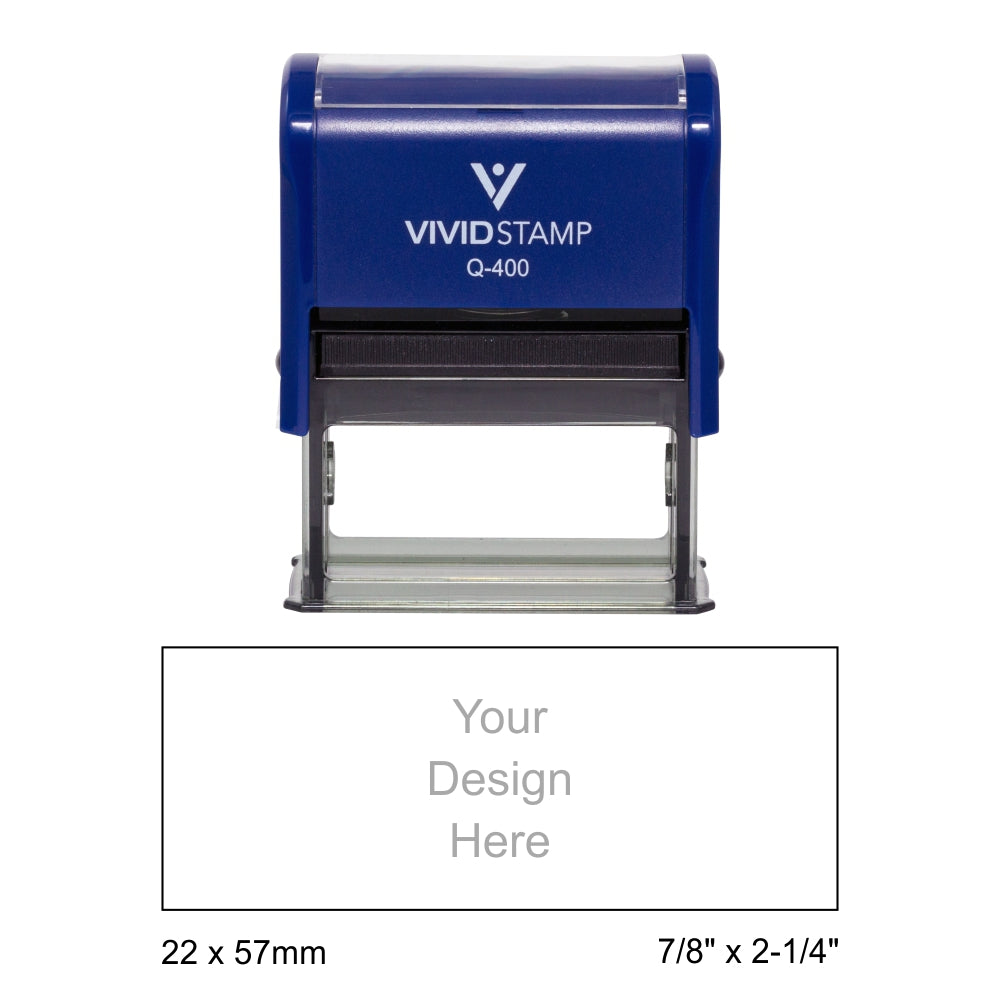 Vivid Stamp Q-400 Self-Inking Stamp - Blue Body