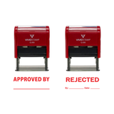 APPROVED / REJECTED By Date Self Inking Rubber Stamp - 2 PACK