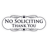 Designer NO SOLICITING Thank You Sign