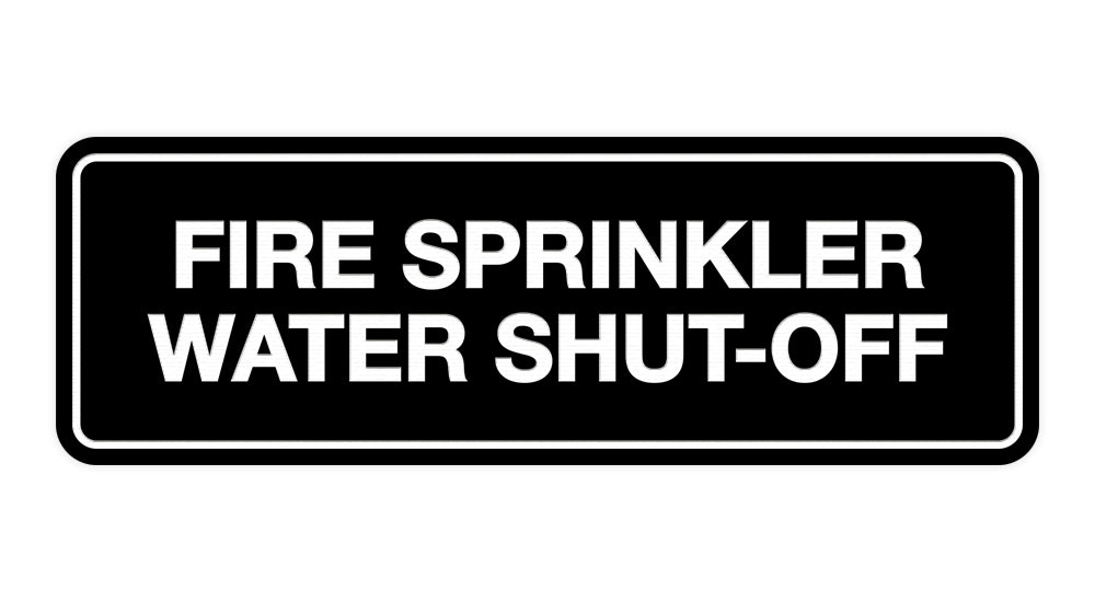 Signs ByLITA Standard Fire Sprinkler Water Shut-Off Sign