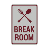 Portrait Round Break Room Sign