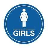 Signs ByLITA Circle Girls (female bathroom icon) Sign