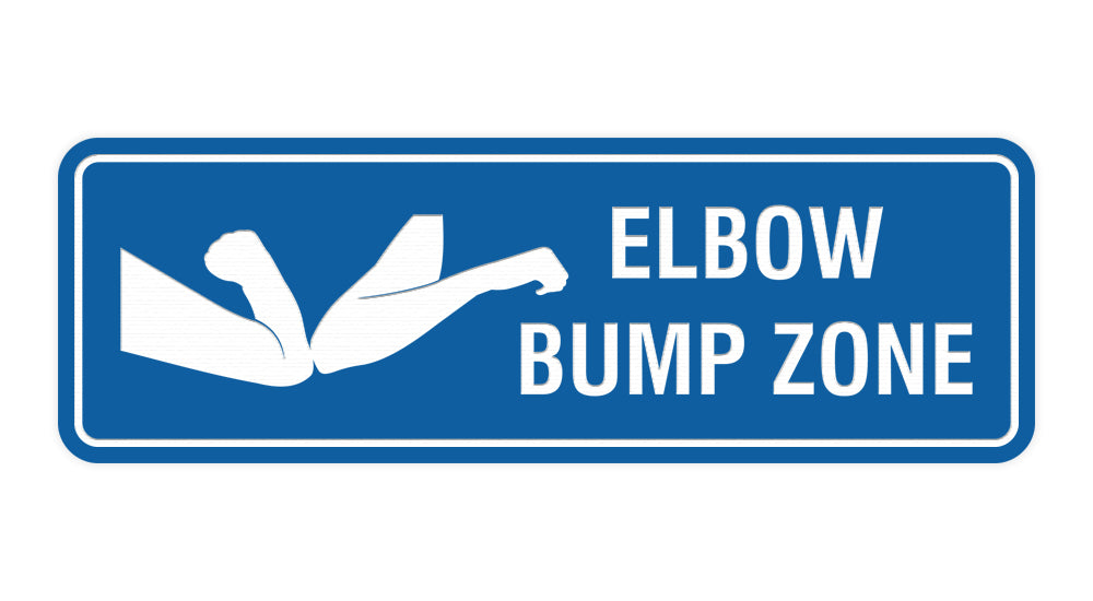 Standard Elbow Bump Zone Sign