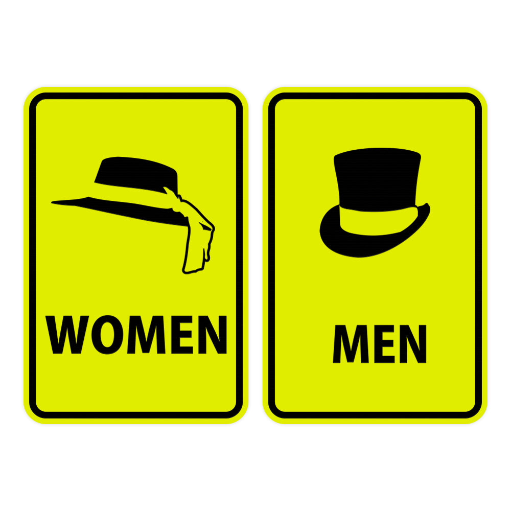 Portrait Round Men / Women Sign Set