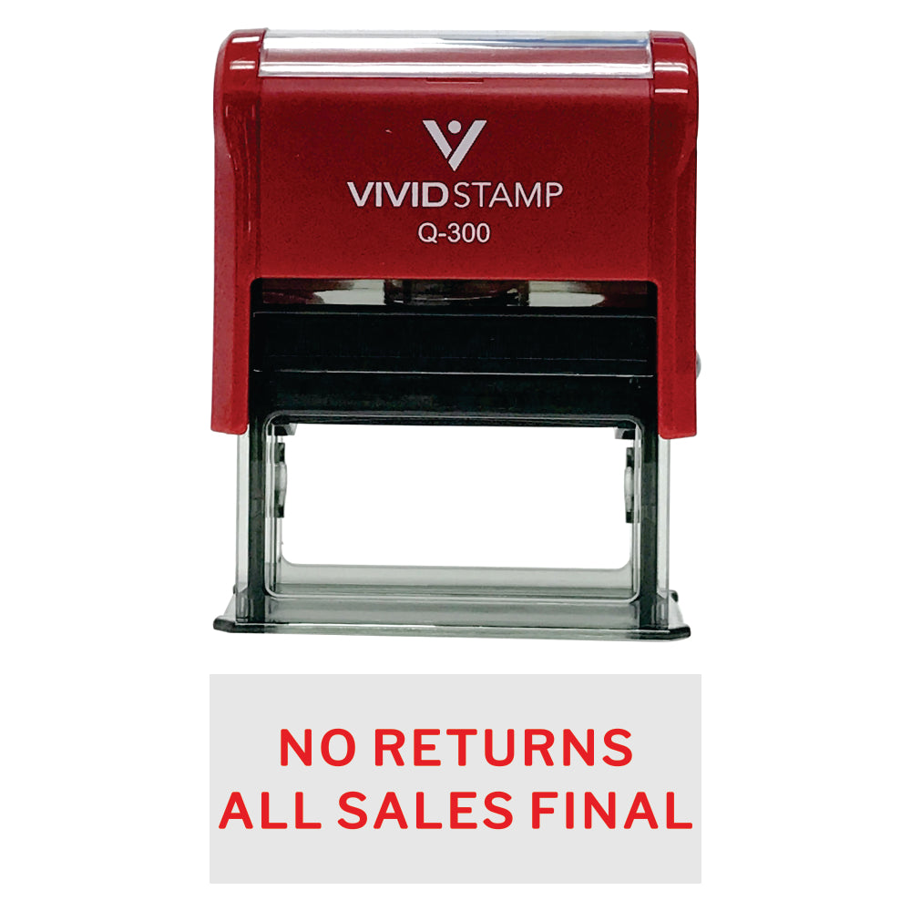 No Returns All Sales Final Self Inking Rubber Stamp