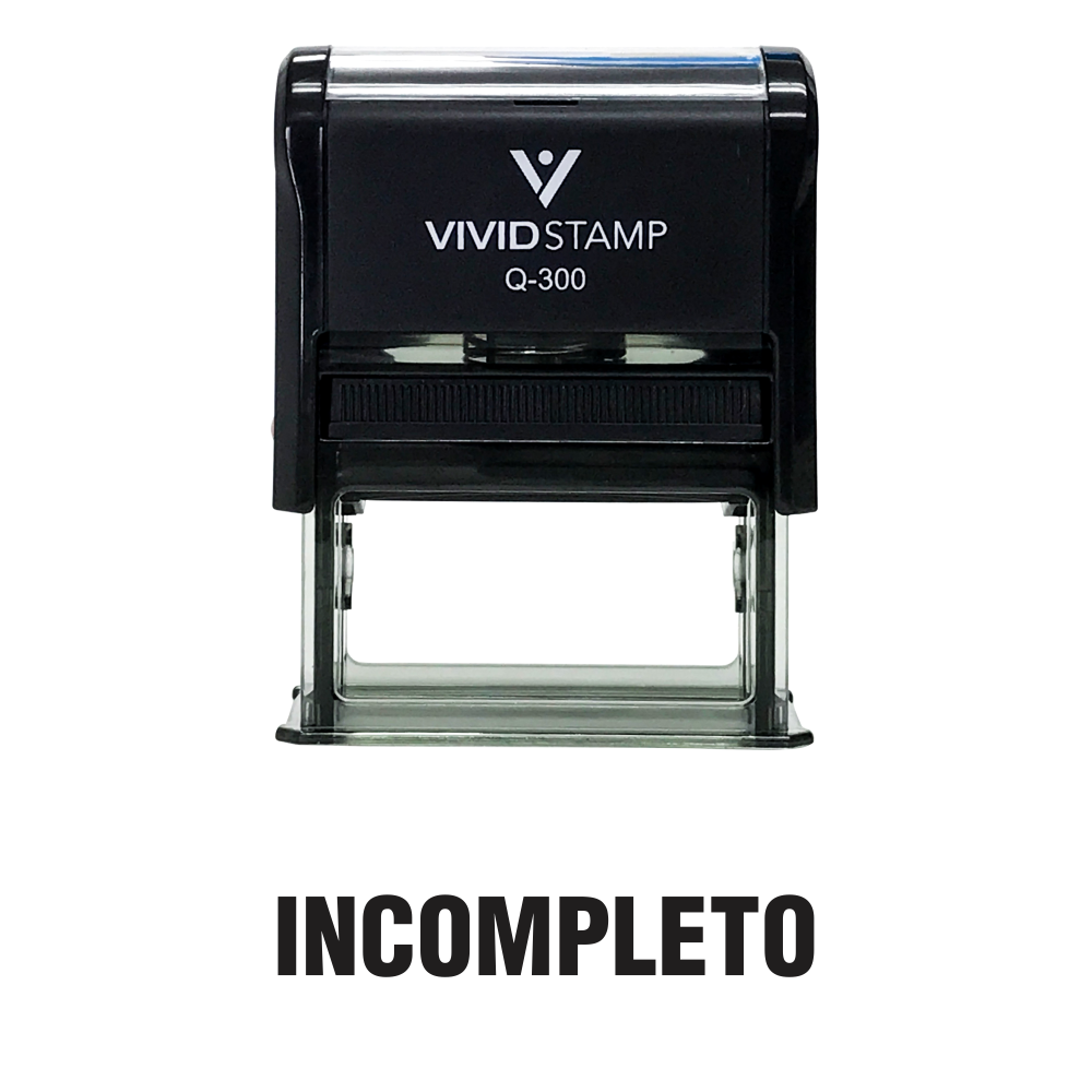 Incompleto Spanish Teacher Self Inking Rubber Stamp