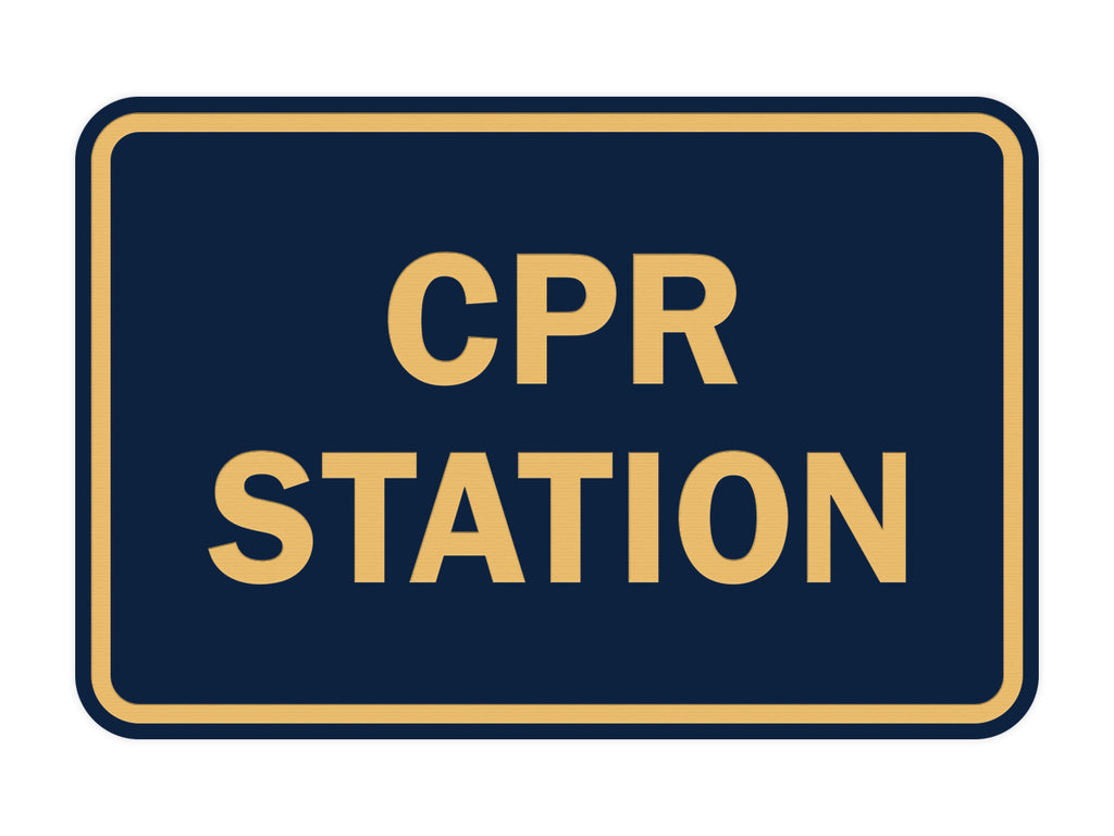 Signs ByLITA Classic CPR Station Sign