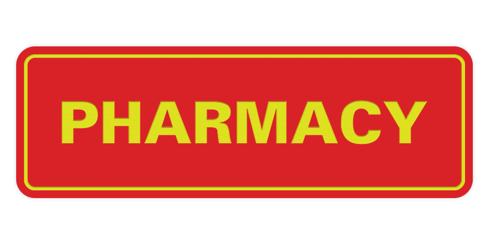 Signs ByLITA Standard Pharmacy Sign
