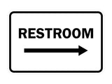 Signs ByLITA Classic Framed Restroom Directional Right Arrow