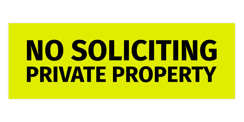 Signs ByLITA Basic No Soliciting Private Property Sign
