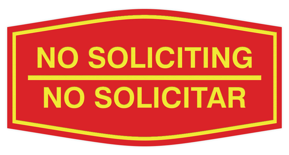 Signs ByLITA Fancy No Soliciting No Solicitar Sign