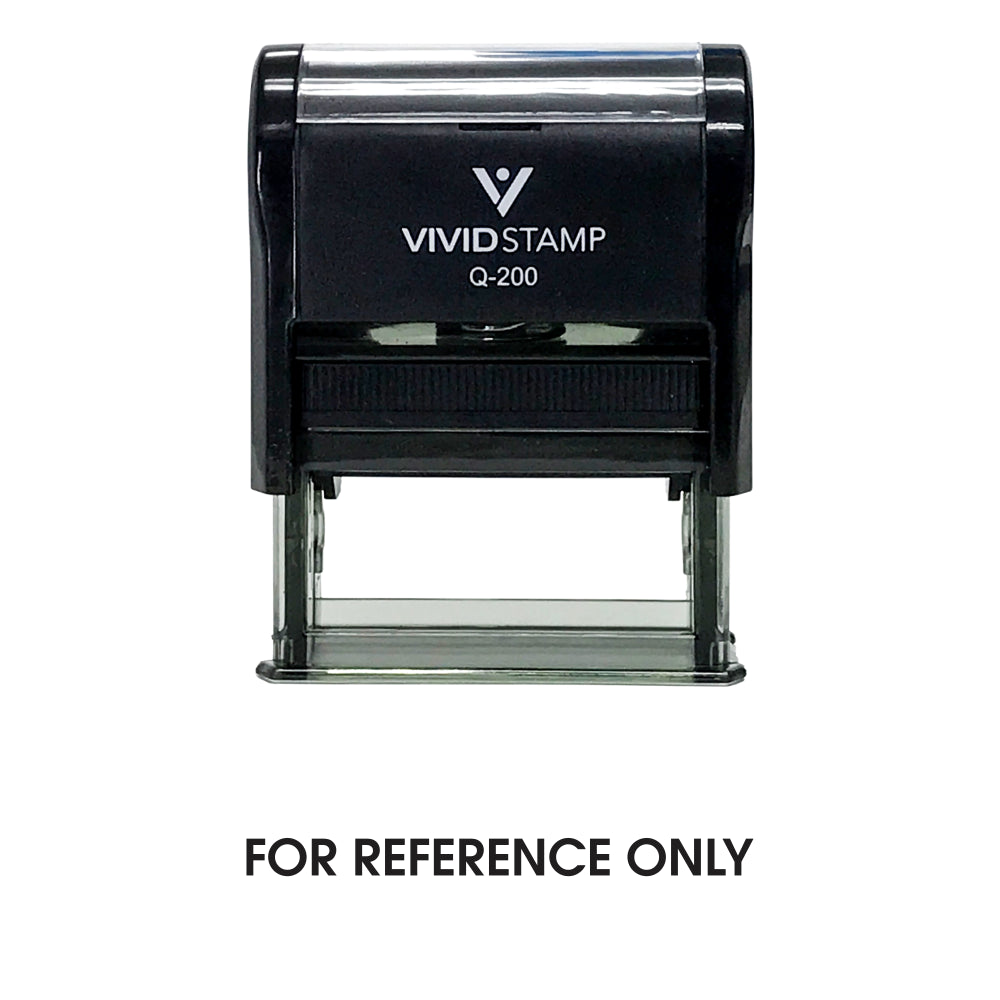 For Reference Only Self Inking Rubber Stamp