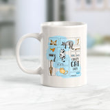 Crazy Cat Lady 11oz Coffee Mug - Funny Novelty Souvenir
