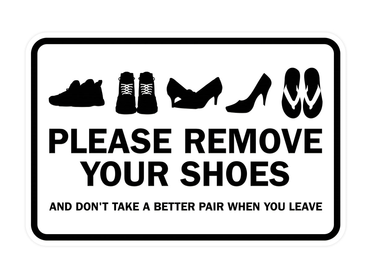 Signs ByLITA Classic Framed Please Remove Your Shoes Sign