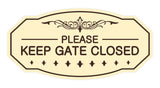 Victorian Please Keep Gate Closed Sign