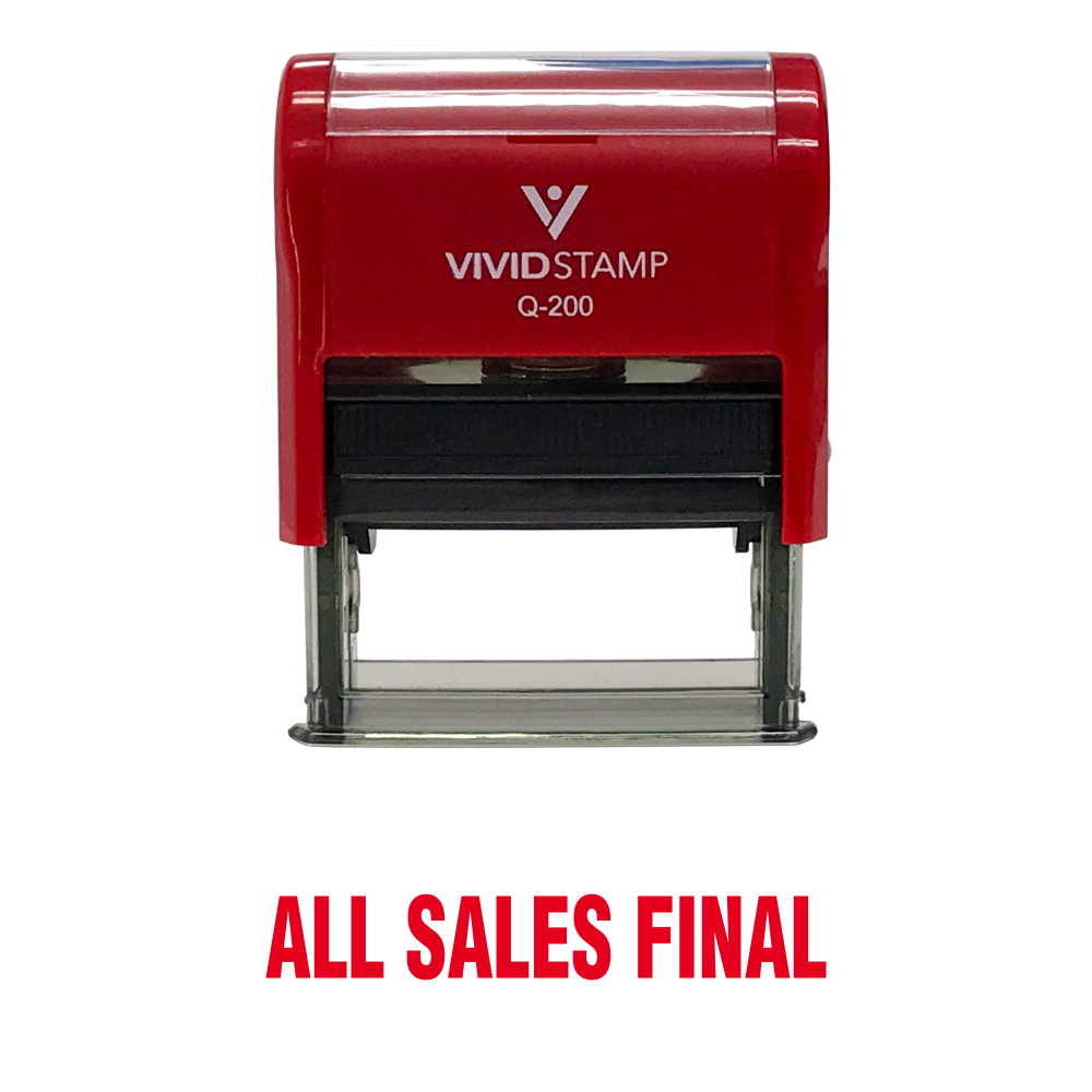 All Sales Final Rubber Stamp
