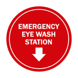 Signs ByLITA Circle Emergency Eye Wash Station Sign with Adhesive Tape, Mounts On Any Surface, Weather Resistant, Indoor/Outdoor Use