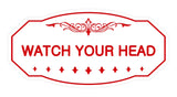 Victorian Watch Your Head Sign