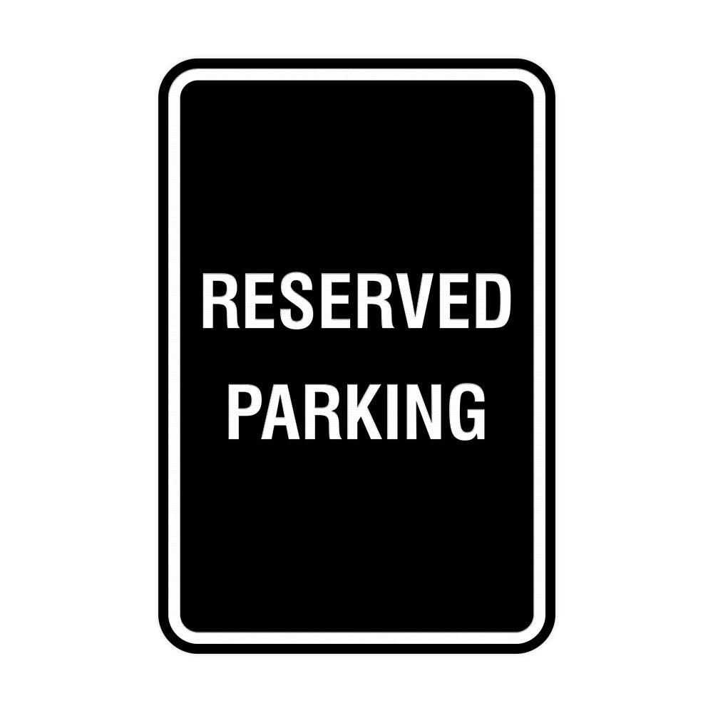 Signs ByLITA Portrait Round Reserved Parking Sign with Adhesive Tape