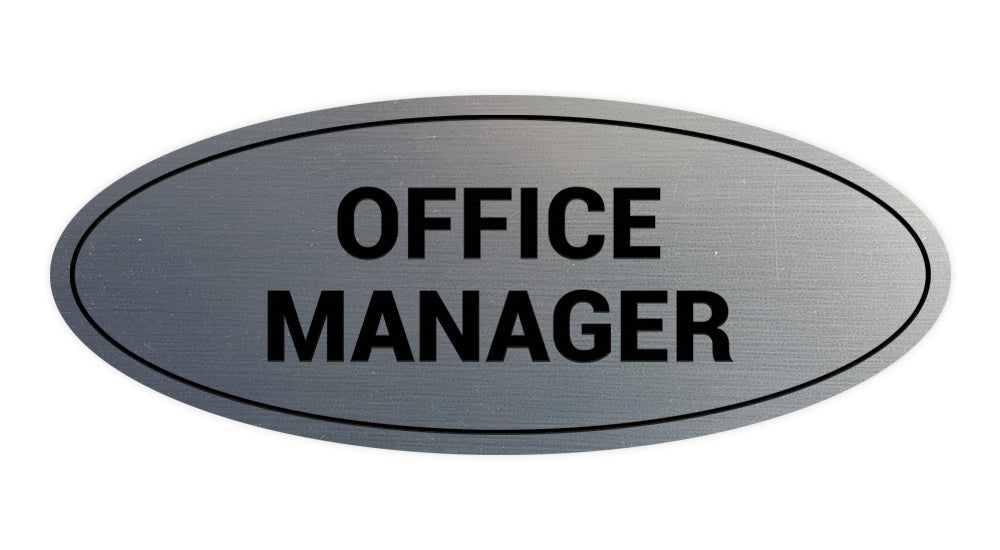 Signs ByLITA Oval Office Manager Sign