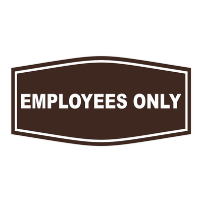 Fancy Employees Only Wall/Door Sign