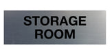 Brushed Silver Signs ByLITA Basic Storage Room