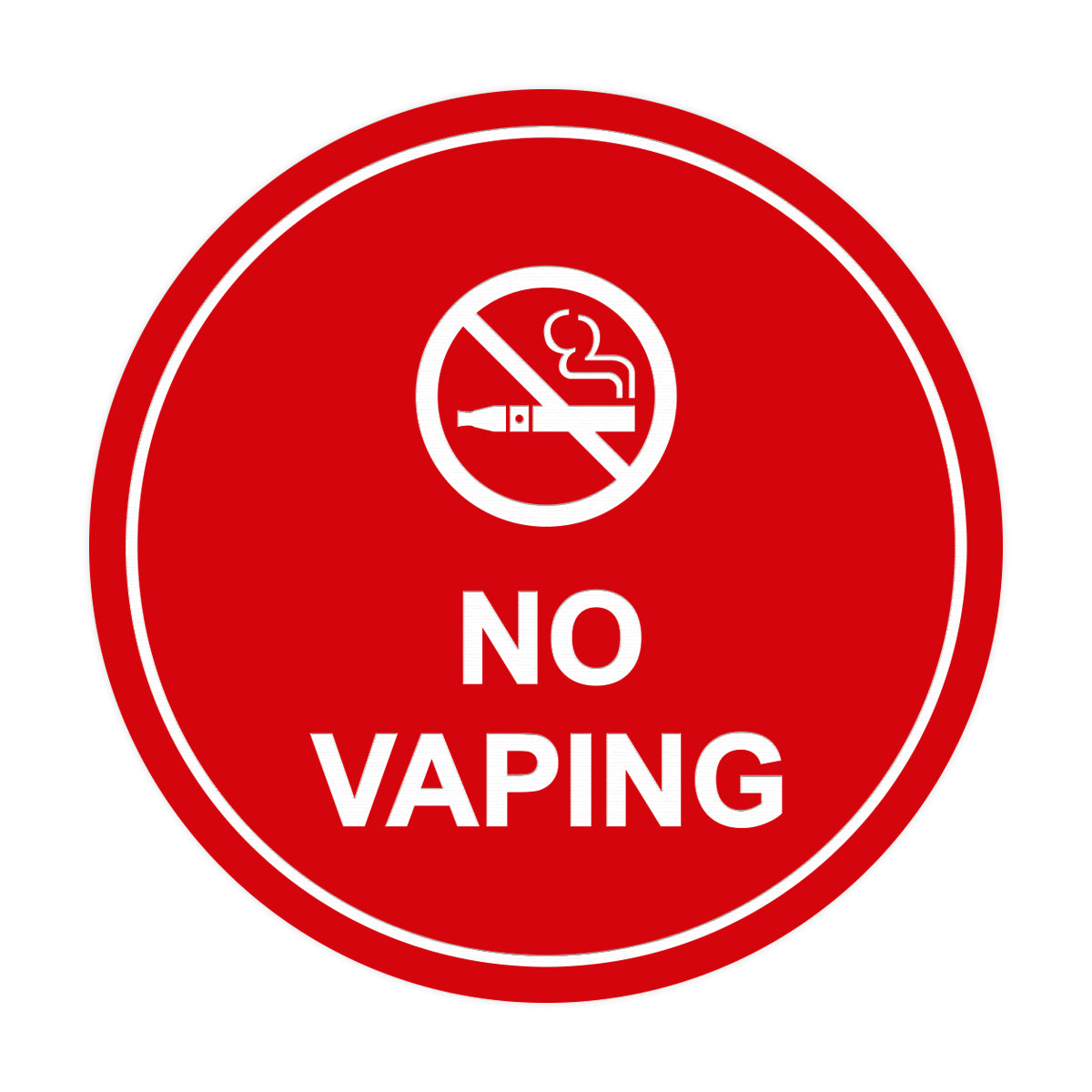 Signs ByLITA Circle No Vaping Sign