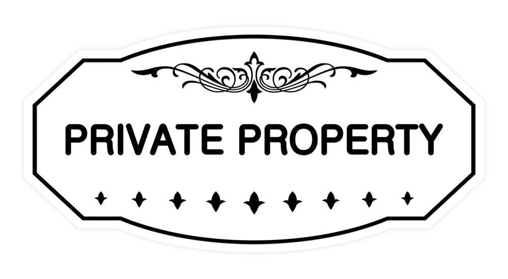 Victorian Private Property Sign