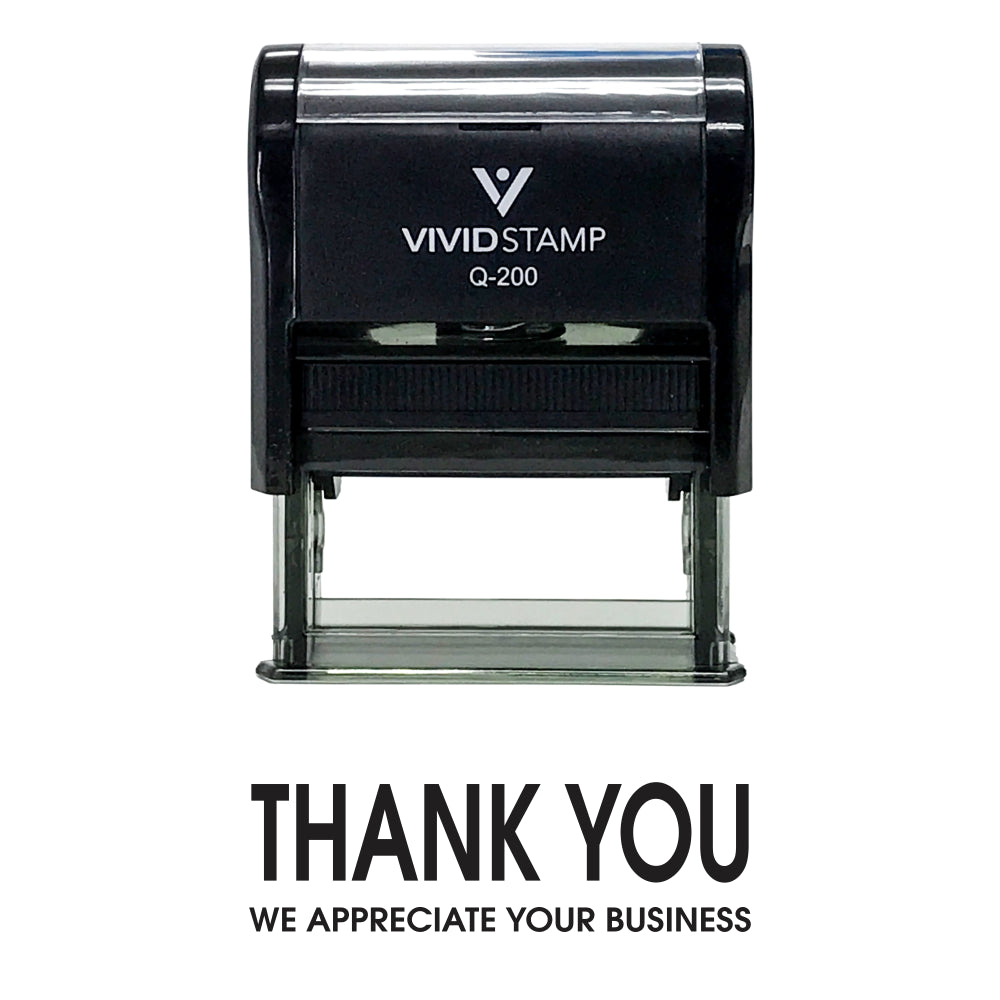 Black Thank You We Appreciate Your Business Self Inking Rubber Stamp