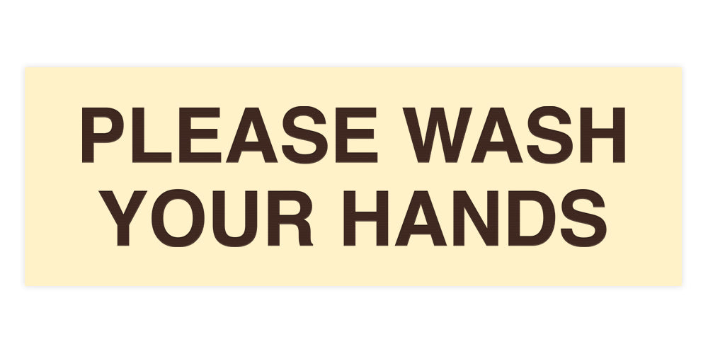 Signs ByLITA Basic Please Wash Your Hands Sign