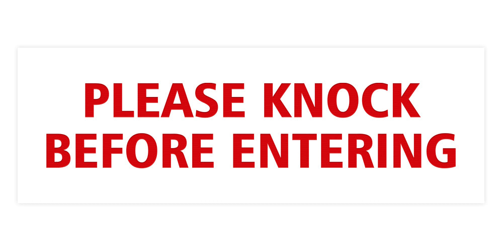 Signs ByLITA Basic Please Knock Before Entering