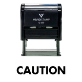 CAUTION Self Inking Rubber Stamp