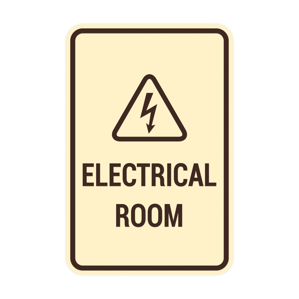 Portrait Round Electrical Room Sign