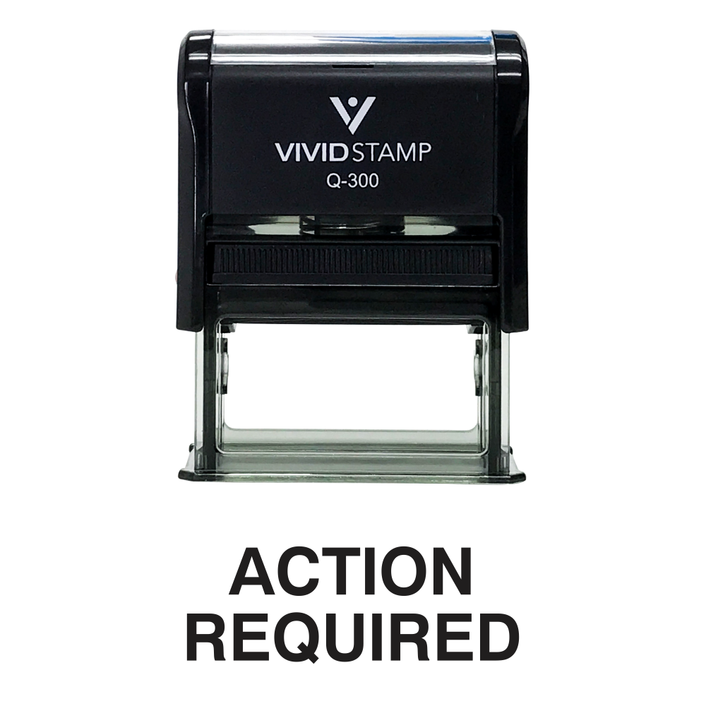 Action Required Office Self Inking Rubber Stamp