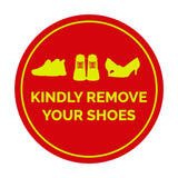 Signs ByLITA Circle Kindly Remove Your Shoes Sign