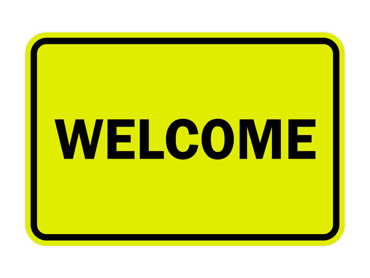 Signs ByLITA Classic Framed Welcome Sign