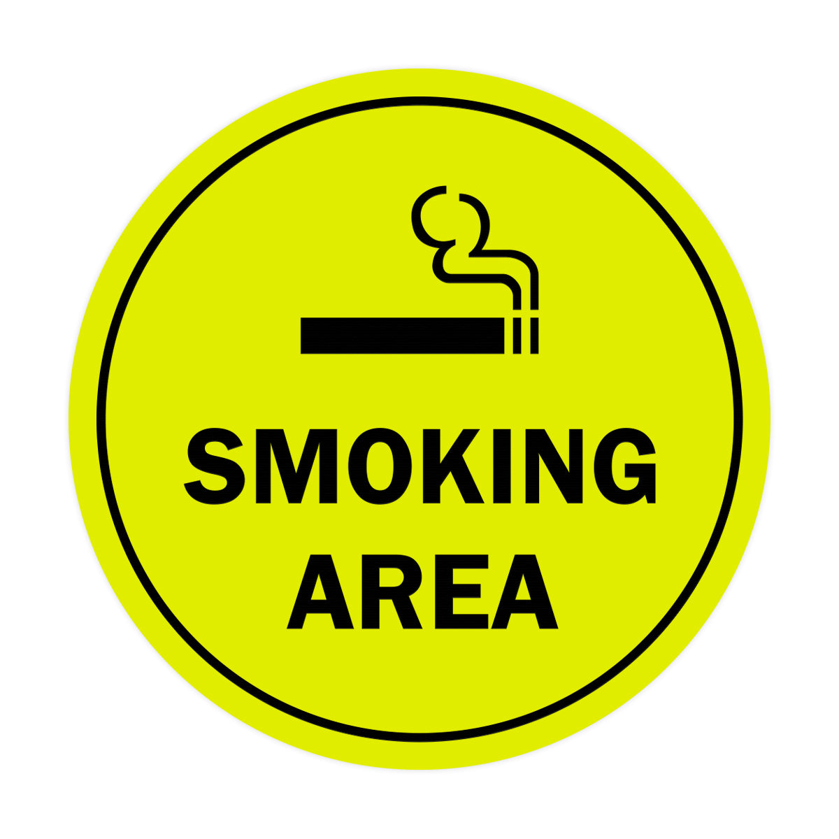 Signs ByLITA Circle Smoking Area Sign