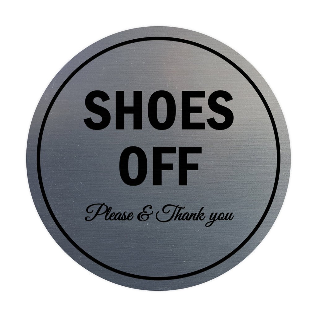 Signs ByLITA Circle Shoes off Please Thank you Sign