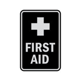 Portrait Round First Aid Sign